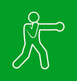 boxing punch sport figure symbol graphic vector image