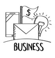 business mobile email money idea doodle vector image