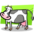 cartoon doodle of farm cow vector image vector image