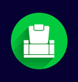 chair icon button logo symbol concept vector image