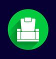 Chair icon button logo symbol concept