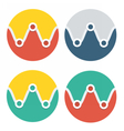 circle flat icon collection vector image