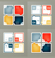 collection of infographic templates for business vector image vector image