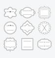 cute blank empty black line emblem frames set vector image vector image