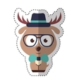 cute deer character hipster style vector image vector image