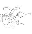 decorative branch with shade vector image vector image