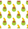 easter chicken on egg seamless pattern vector image vector image