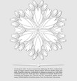 elegant abstract background white fantasy flower vector image