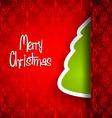 Elegant Classic Christmas flyer with half tree