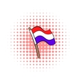 Flag of the Netherlands icon comics style vector image vector image