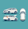 flat suv template vector image