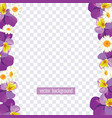 floral borders on transparent background vector image vector image