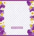 floral borders on transparent background vector image