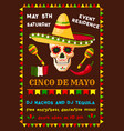 flyer of mexican cinco de mayo fiesta party vector image