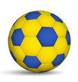 football ball blue-of yellow color vector image vector image