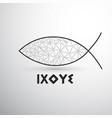 geometric christian fish ixoye vector image