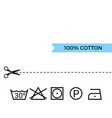 guide to laundry care symbols vector image