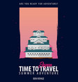 japan time to travel journey trip and vacation vector image