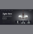 lights store shop with lamps and chandeliers vector image