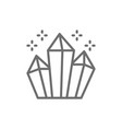 magic crystals diamonds line icon vector image