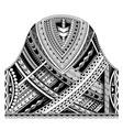 maori half sleeve ornament vector image vector image