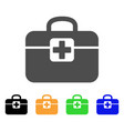 medkit flat icon vector image vector image