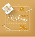 merry christmas golden glitter background vector image vector image