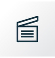 movie clap outline symbol premium quality vector image