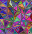 Multicolored triangle mosaic background design vector image vector image