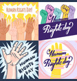 nice and beautiful set abstract for human rights vector image