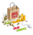 online shopping concept web store internet sales vector image