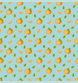 oranges seamless pattern background with tropical vector image