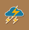 paper sticker on stylish background of lightning vector image vector image