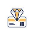 premium card - modern line design icon vector image