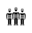 production team black icon sign on vector image vector image