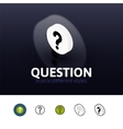 Question icon in different style vector image