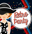 retro party vector image vector image