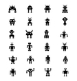 Robots Icons 1 vector image