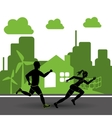 runner athlete running design vector image vector image
