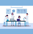scientist researchers female characters in vector image vector image