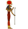 sekhmet Isolated figure of ancient egypt god vector image vector image