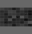 set of linear seamless geometric pattern vector image vector image