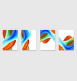 set twisted colorful flow vector image