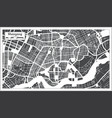 shenyang china city map in retro style outline map vector image vector image