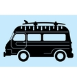 surf bus silhouette vector image vector image