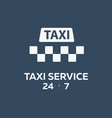 taxi service taxi banner flat vector image vector image
