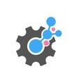 techno gear logo template design eps 10 vector image