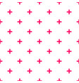 tile cross plus pastel pink and white pattern vector image