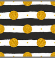 tile pattern with black and white stripes and gold vector image vector image