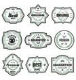 vintage colored premium emblems set vector image vector image